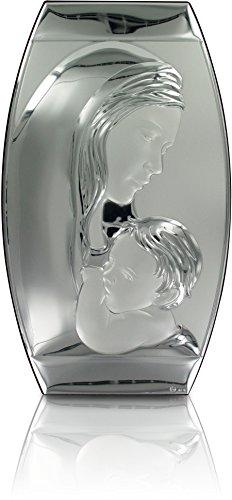 Ferrari & Arrighetti Cuadro Virgen María con Niño Jesús de Plata 925-26 x 46 cm