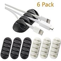 YOCOU Clips para cables multiusos, sistema de gestión de cables y organizador de cables para el hogar y la oficina