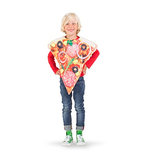 Pizza Kind Kostüm - Folat 21909 Pizza Kostüm Kind, unisex-child, Mehrfarbig, One Size
