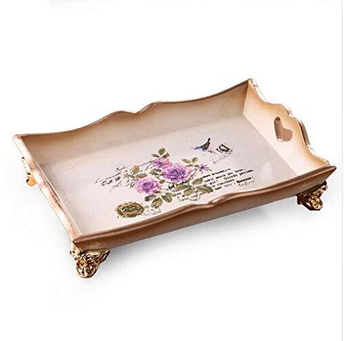 PORCN Vintage Holz Tablett Bauernhaus Stil Hochzeitsdekoration Schmuck Display Dish Cosmetic Organizer Obst Kuchen Teller Tee-tablett Decor Vintage-bauernhaus