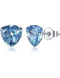 Silber Ton Kristall Diamant Schädel Ohrstecker Ohrstecker ZP Frauen Dame Gold
