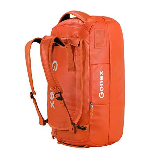 Gonex Rucksack Reisetasche Reiserucksack Wanderrucksack Düffel 60L für Damen Herren zum Wandern, Camping, Reisen, Radfahren, Orange