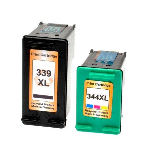 Preisvergleich Produktbild 2 Logic-Seek Tintenpatronen kompatibel zu HP 339+344 C8767EE C9363EE - Schwarz 30 ml + Color 21ml