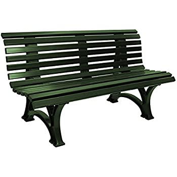 Amazon.de: Gartenbank 3-sitzer / 150cm aus Kunststoff dunkelgrün ...