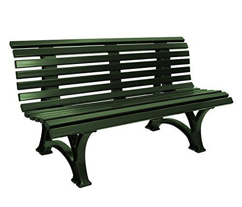 Gartenbank 3-sitzer / 150cm aus Kunststoff dunkelgrün, wetterfest