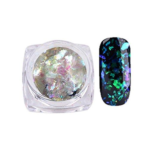 Hot Spiegel Nagel Nail Nail Art Gorgeous Chameleon Mirror Powder Manicure Chrome Pigment Glitters 0.2 g Von Xinan (❤️, B)