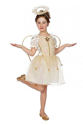 shoperama Kinderkostüm Weihnachtsengel Creme/Gold inklusive Flügeln und Heiligenschein Mädchen Engel, ()