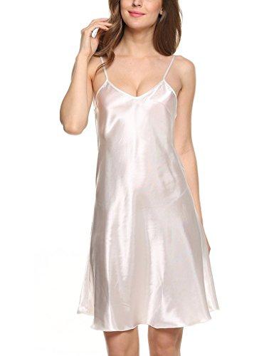 Surenow Camicie da Notte Slittamento Pigiameria e Robe di Raso