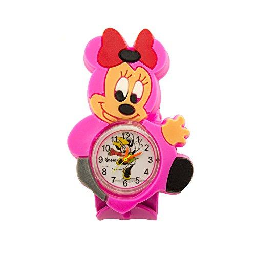 HAND Nette und bunte Mickey und Minnie Maus Kinderuhr mit Snap Lock Armband