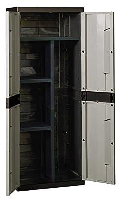 Toomax Kunststoffschrank Entry Line M, Schwarz, Z288R050 von PLASTMECCANICA - Gartenmöbel von Du und Dein Garten