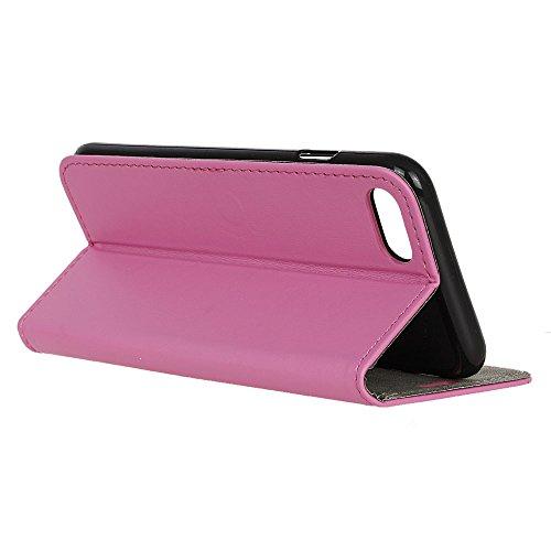 MOONCASE iPhone 7 Plus Bookstyle Étui Housse en Cuir Case Support à rabat Coque de protection Portefeuille TPU Case pour iPhone 7 Plus Noir Rose