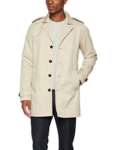 JACK & JONES PREMIUM Herren Mantel Jprdavid Trenchcoat Noos, Grau (Feather Gray Feather Gray), Large