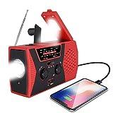 Emergency Solar Hand Crank Radio, lesgos NOAA Weather Radio for Emergency with AM/FM
