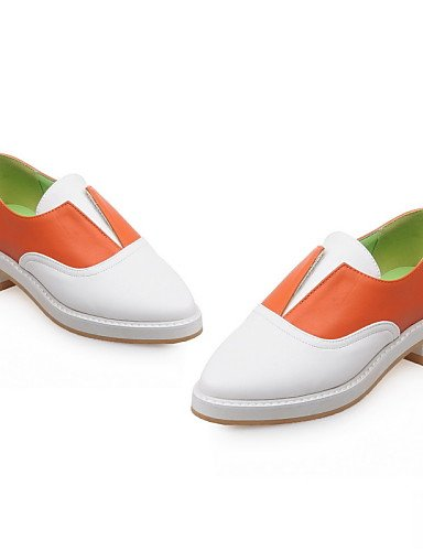 ZQ gyht Scarpe Donna-Mocassini-Ufficio e lavoro / Casual / Serata e festa-A punta / Chiusa-Quadrato-PU-Nero / Arancione , orange-us8 / eu39 / uk6 / cn39 , orange-us8 / eu39 / uk6 / cn39 black-us6.5-7 / eu37 / uk4.5-5 / cn37