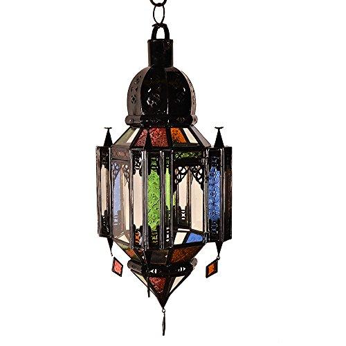 Jaima Alkauzar Walida Lampara con Diseño Cristal Andalusí E27, Multicolor, 45 x...