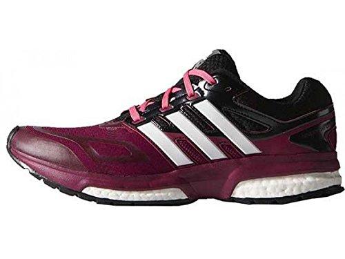 Adidas Response Boost Techfit W Scarpe da corsa, viola, 37,5