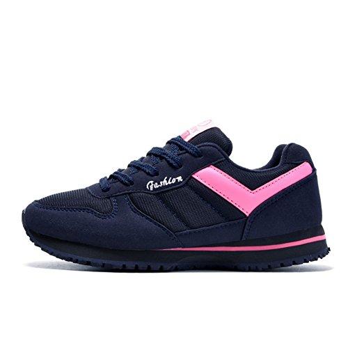 Chaussure de sport homme femme âgé mixte adulte chaussure de marche courir voyages Rose