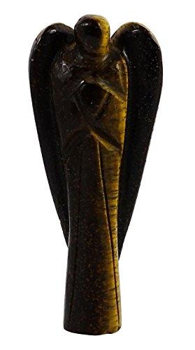 Harmonize avventurina pietra intagliato Angelo Custode Psychic spirituale gemstones Reiki Healing pietra, Pietra, Brown (Tiger Eye), ROUGE CADEAU POCHE