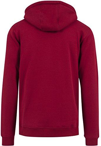 Mister Tee Herren Hoodie Kdot - Streetwear Kapuzenpullover, Ruby, Größe XS bis XL ruby