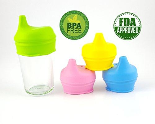 coccinelle-company-spill-proof-coperchio-con-beccuccio-in-silicone-senza-bpa-grippy-confezione-da-4-