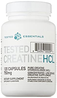 Tested Nutrition Creatine Concentrated HCL Capsules - Pack of 120 by Tested Nutrition