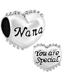 Pugster Heart Love Nana You Are Special Charm Bead Sale Fit Pandora Bracelet