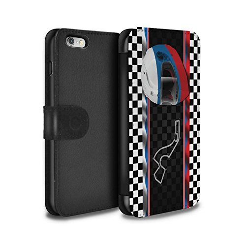 Stuff4 Coque/Etui/Housse Cuir PU Case/Cover pour Apple iPhone 6 / Monaco/MonteCarlo Design / F1 Piste Drapeau Collection Russie/Sochi