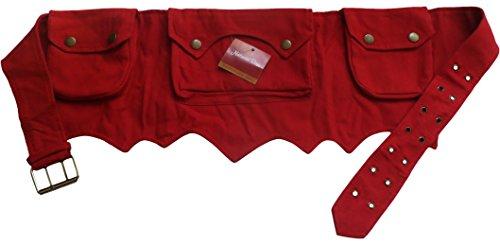 NATURAL FLOW Marsupio portasoldi rosso taglia unica