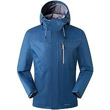 Amazon Brand: Eono Essentials - Veste imperméable semi-légère et respirante pour homme, tailleM, Bleu encre