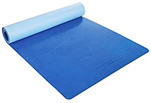 Timberbrother Yoga Mat - Eco-friendly TPE Material, Extra wide at 71cm x 183cm x 6mm Thick (Light Blue + Dark Blue)