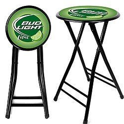 Bud Light Lime 24 Inch Cushioned Folding Stool