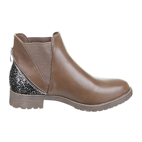 Chaussures, bottines w103 Marron - Braun Grau