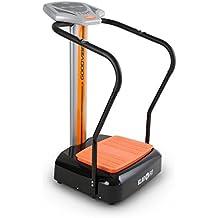 Klarfit Goodvibe - Plateforme vibrante pour fitness et préparation physique (ordinateur de bord avec pulsomètre, 3 programmes, roulettes pour déplacement facile)