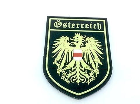 Österreich Wappen Österreichische Leuchten im Dunkeln Crest Airsoft Klettverschluss PVC-Patch