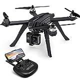 Potensisk GPS Drone med 1080P-kamera, WiFi FPV RC Quadcopter, Dual GPS, Live Transmission, Brushless Motor, 130 ° Vidvinkel, Följ mig, Altitude-Hold, Headless Mode för Action Camera och Expert D85