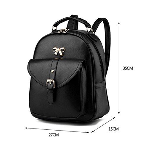 Zaino scolastico dello zaino del sacchetto di viaggio della spalla della cartella di cuoio di modo delle donne Rosé
