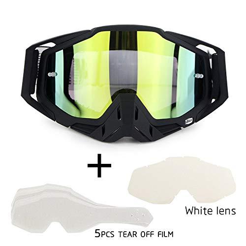 XYQY Brille Motocross Brille Brille Off Road Dirt Bike Motorrad Helme Brille Ski Sport Brille Masque Brille SetM (Dirt Bike Getönte Brillen)