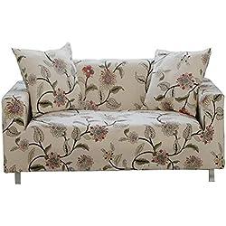 ENZER Sofa Schonbezug Stretch Elastischer Stoff Blumen Vogel Muster Sessel Doppelschlaf Couch Neue Kleidung, PET Hund Displayschutzfolie, Flower Vine, 1-Sitzer