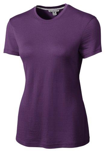 Smartwool en laine mérinos Femme Loisirs M S/S T-Shirt Graphic Thé, SF120 Violet - Violet foncé