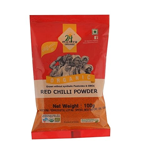 24 Mantra Organic Chilli Powder, 200g  available at amazon for Rs.85