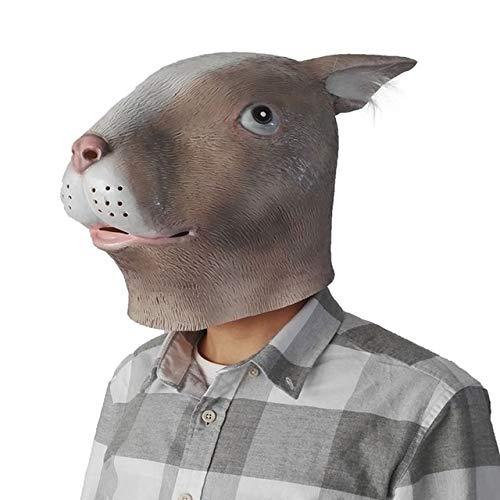 Party Cosplay Tier Maske Latex Kaninchen Maske Häschen Maske Verkleidungen von Kaninchen Gesicht Kopf Maske, Bild Farbe ()