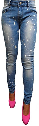 -Tubo Sexy da donna pantaloni Jeans tubi jeans sui fianchi Jeans Chino Baggy Pantalone Felpa da donna nuovo anca Boyfriend blu denim skinny slim Shirt taglia 3436384042, XS S M L XL Blau S / 36
