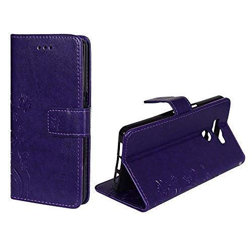 König-Shop Handy-Hülle für Elephone P9000 Tasche Case Cover Wallet Kunstleder Violett