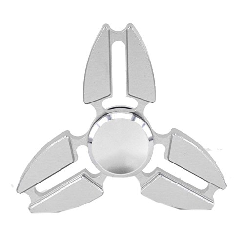 L-FENG-UK-Tri-Fidget-Hand-Spinner-ToyStress-Reducer-Ultra-Durable-High-Speed-Ceramic-Bearing-Fidget-Finger-Toy-Can-Continue-to-Rotate-Silver