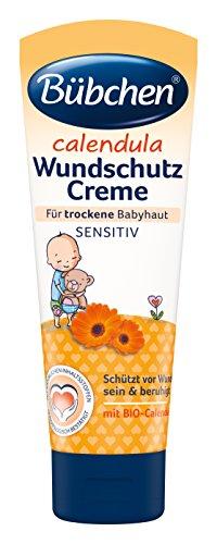 Bübchen Calendula Wundschutz, Creme zum Schutz empfindlicher Babyhaut, Wund Creme, Baby Wundcreme mit BIO-Calendula, Menge: 2 x 75 ml