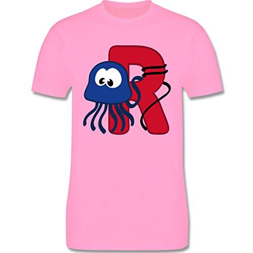 Anfangsbuchstaben - R Schifffahrt - Herren Premium T-Shirt Rosa
