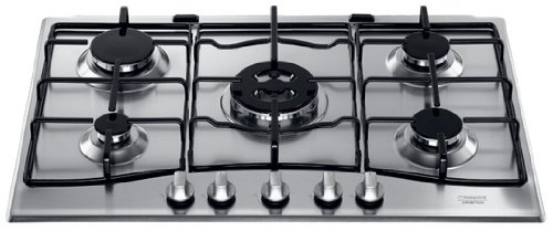 Hotpoint PC 750 T X/HA built-in Gas Stainless steel hob - Hobs (Built-in, Gas, Stainless steel, Stainless steel, 1000 W, 5.5 cm)