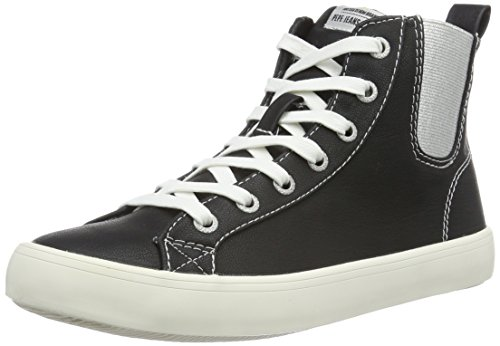 Pepe Jeans Londres Clinton Chelsea, Sneaker Alte Donna Nero (schwarz (noir 999))