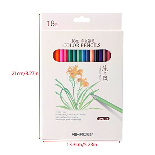 Dairyshop 18 Couleur Art Dessin Crayons Set Crayon pour l'artiste Esquisser Papeterie