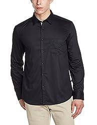 Parx Mens Casual Shirt (8907575750120_XMSS05829-K8_40_Black)